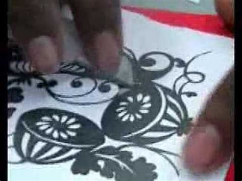 Paper Cutting Craft Tutorial - paper cut tutorial