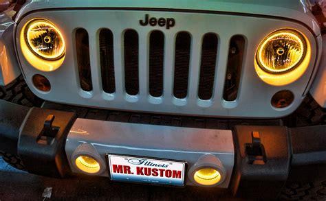 2012 jeep wrangler yellow halo headlights rings mr