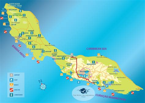 printable curacao road map curacao maps otrabanda and punda map quotes