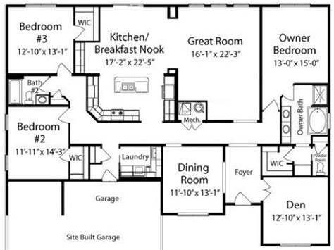 ranch style floor plan ranch style kitchen cabinet styles ranch house kitchen floor plans unique home plans