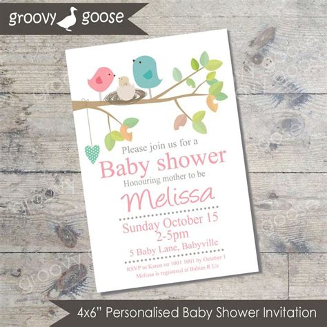 Baby Shower Bird Theme Invitations by Bird Nest Baby Shower Invitation Pink Diy Printable Baby