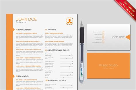Two Pages Resume Cover Letter Template For Adobe Indesign Create Your Perfect Resume With Indesign Letter Template