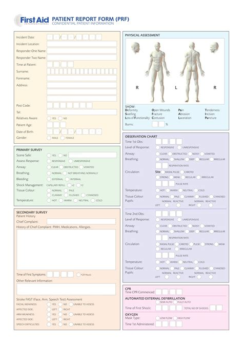 patient report form template 14 patient report forms free word pdf format