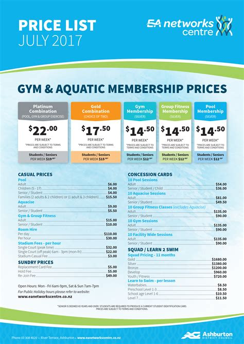 Ea Fitness 1 by Pricing Ashburton Ea Networks Centre