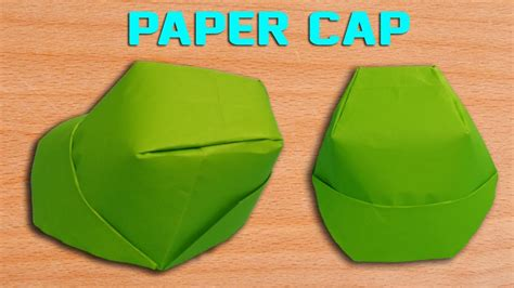 How To Make Cap With Paper - how to make a paper cap diy origami hat simple