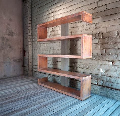 handmade serpentine bookshelf by indistressed custommade