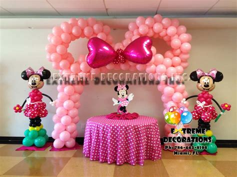 Minnie Mouse Decoration Ideas decorations miami balloon sculptures