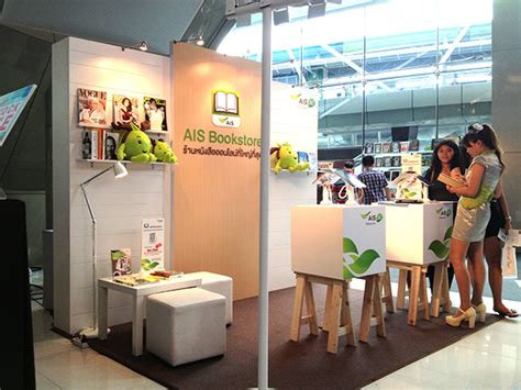 booth design thailand ais book store booth bookanista fair bangkok on behance