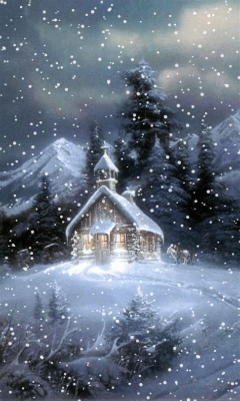 animation for winter beautiful animated winter gif snow fall on church staplepost