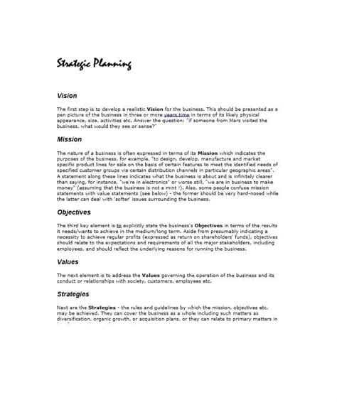 32 Great Strategic Plan Templates To Grow Your Business Strategic Business Plan Template