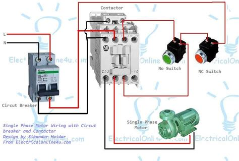 single phase submersible starter wiring diagram