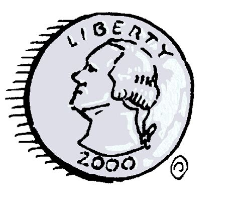 Drawing Quarter by Us Quarter Clipart Clipart Suggest