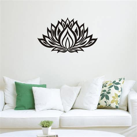 beautiful lotus wall stickers bedroom living room home