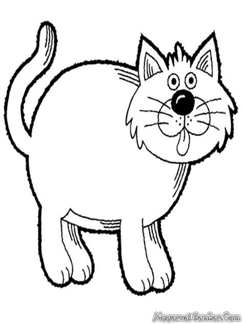 gambar: Gambar Kucing Hitam Putih Untuk Diwarnai