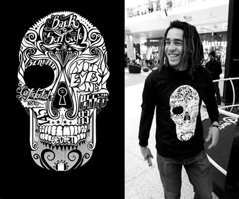 Kaos T Shirt Max Cavalera Wpap sugar skull t shirt by mr four fingers