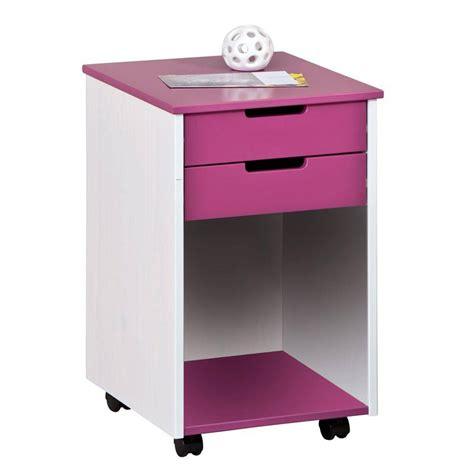 caisson bureau enfant caisson de bureau 2 tiroirs quot quot fuchsia