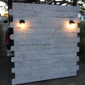 white pallet headboard with lights pallet furniture diy