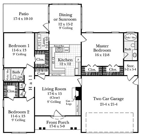 Highly Functional House Plan 5173mm 1st Floor Master Usda House Plans