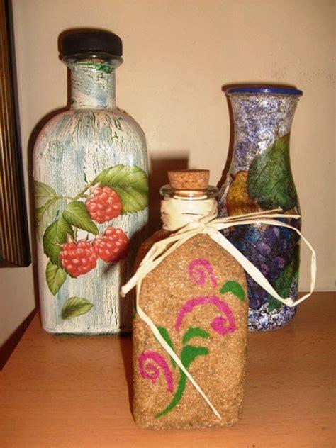 decoracion de botellas de vidrio con servilletas botellas decoradas con servilletas imagui