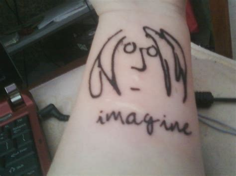 john lennon tattoo lennon imagine by myromanceischemical