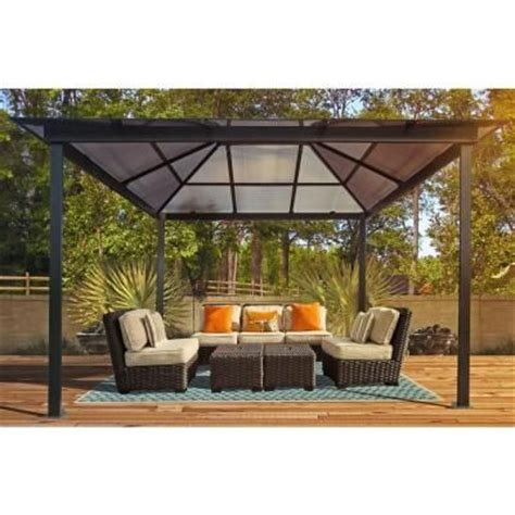 backyard gazebos home depot stc 10 ft x 13 ft madrid gazebo gz620h at the home