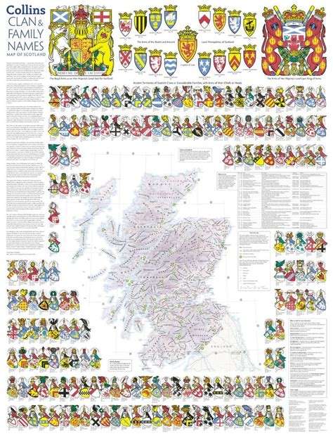 scotland mapping the nation books clan and family names map of scotland collins pictorial
