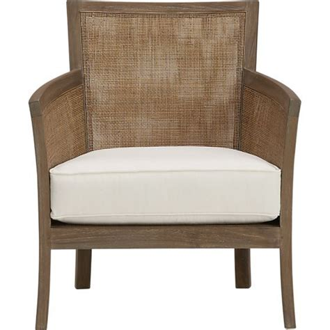Crate And Barrel Chair Cushions by Grey Wash Lounge Chair With Cushion In Chairs