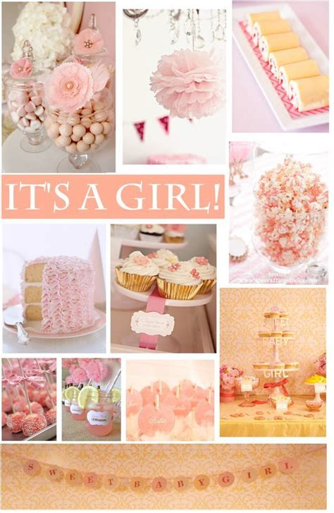 themes cute baby baby girl pink peach shower princess party babies and
