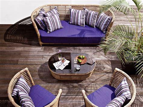 divanetti giardino divano intrecciato a mano per giardino e terrazzo idfdesign