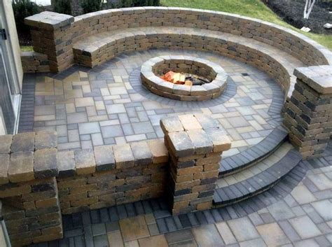 fire pit benches with backs stone patio bench with firepit want for the home