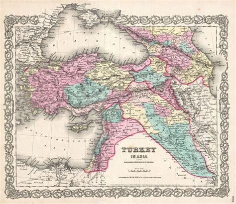 map of turkey and iraq file 1855 colton map of turkey iraq and syria