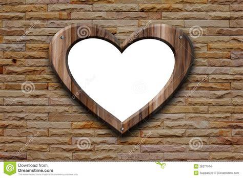 heart shape wooden frame stock photo image  wooden