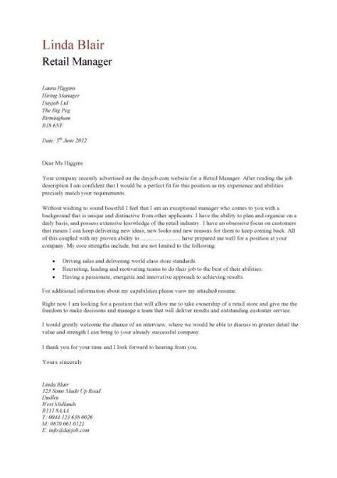 Cover Letter Exles Uk Retail cover letter exles sales assistant 28 images sle sales