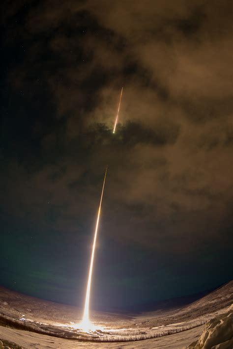dramatic view   nasa rocket launch  alaska colossal