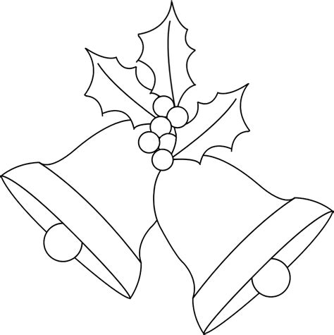 Any Old Craft Christmas Bells And Holly Digi St Freebie Bell Template
