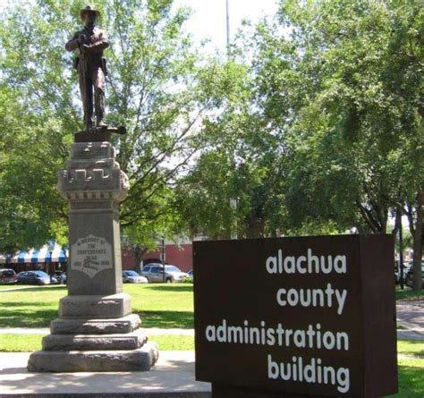 Alachua County Property Records Alachua County Considers Removing Confederate Statue Wlrn