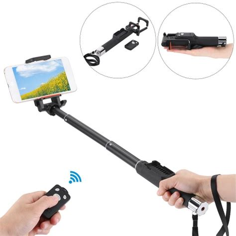 Tomsis M Shoot Remote Self Timer For Android Blue yunteng yt 888 extendable handheld selfie self timer rotatable pole monopod with removable