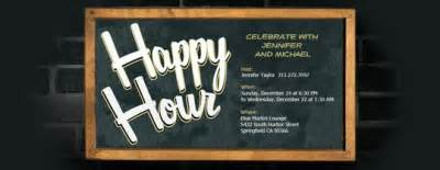 happy hour free invitations