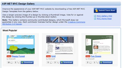 layout templates for asp net mvc scottgu s blog asp net mvc design gallery and upcoming