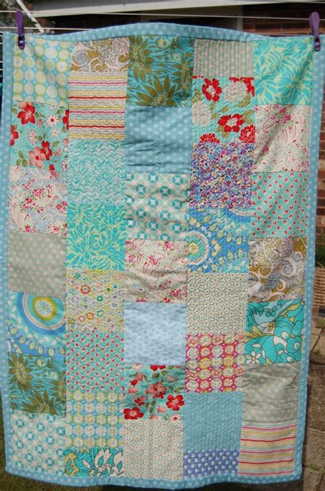 Handmade Cot Quilts - handmade patchwork cot quilt baby blanket quilt