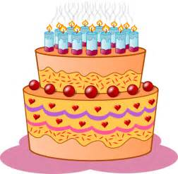 Beautiful birthday cake clip art is ideal for use on your birthday