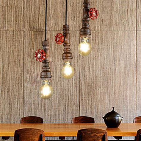 Edison Style Dining Room Lighting Loft Style Water Pipe L Edison Pendant Light Fixtures