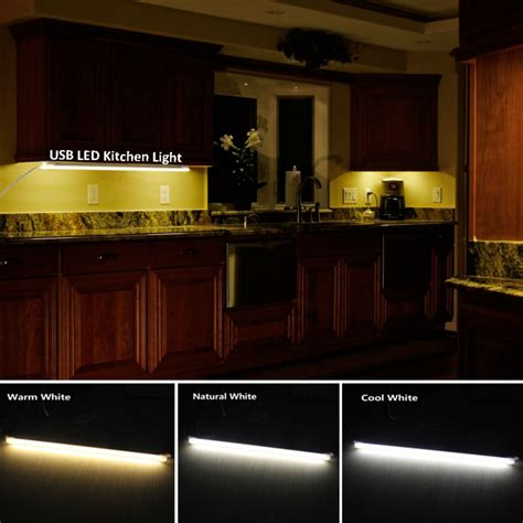 Aliexpress Com Buy Led Kitchen Lights 5v Usb Rigid Led Warm White Cabinet Lighting