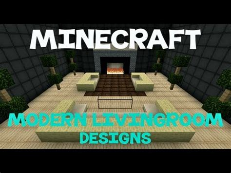 minecraft modern living room minecraft modern living room designs youtube