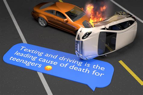 texting leading   death  image