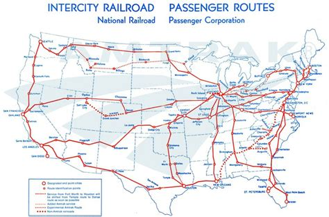 amtrak map texas amtrak system map 1971 amtrak history of america s railroad