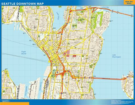 seattle map in usa maps usa wall maps of the world