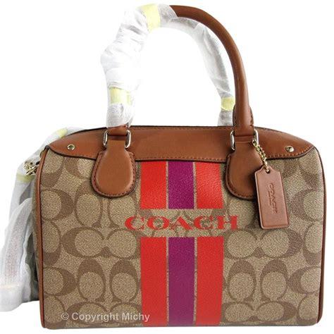 Coach Varsity Mini Bennetkhaki Midnight coach varsity stripe mini f38401 khaki brown watermelon satchel on sale 57