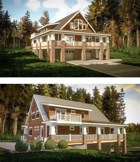 vacation house plans sloped lot 17 best images about homes for the sloping lot on