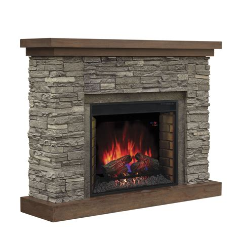 Brown Electric Fireplace by Shop Chimney Free 54 In W 5 200 Btu Cappuccino Brown Ash